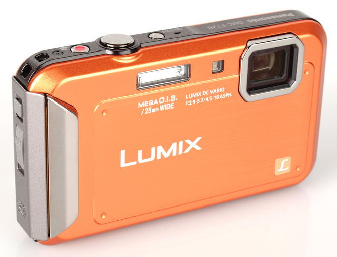 Panasonic Lumix FT20 Orange Angle