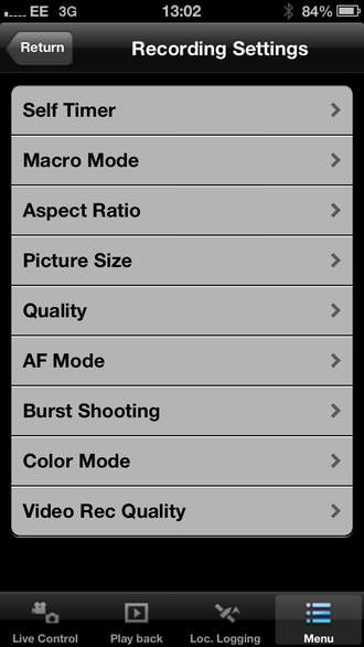Panasonic Lumix Dmc Ft5 App Screenshot 1