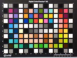 Panasonic Lumix DMC-FX60 colour chart