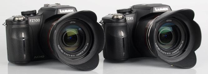 Panasonic Lumix DMC-FZ45 & FZ100 front