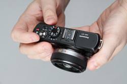 Panasonic Lumix DMC-GF1 top view