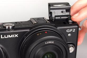 Panasonic Lumix GF2 Pop up flash pushed back