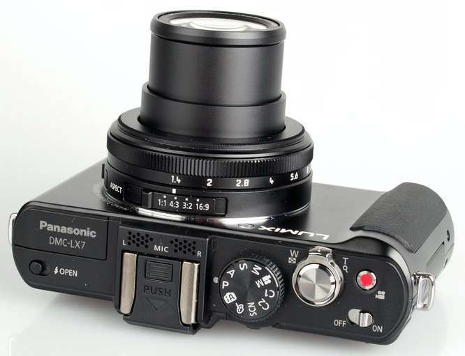 Panasonic Lumix Dmc Lx7 Top