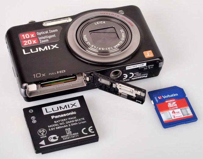 Panasonic Lumix Dmc Sz7 Battery And Memory Card 2