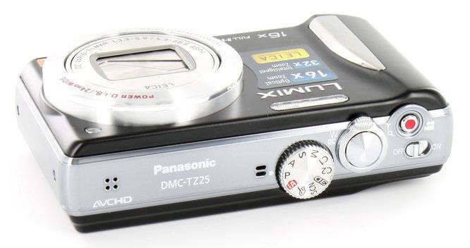 Panasonic Lumix Tz25 Top
