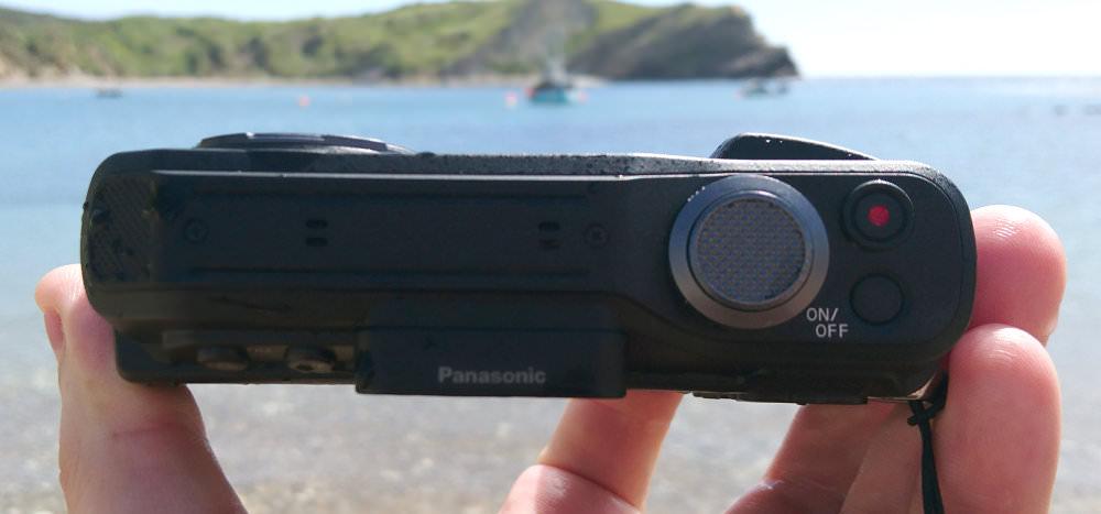 Panasonic Lumix FT7 Blue Hands On Top