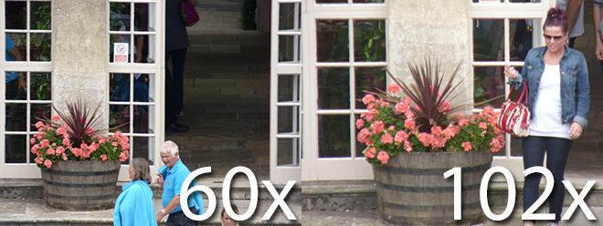 Panasonic Lumix FZ72 60x Zoom Example 102x Zoom Example