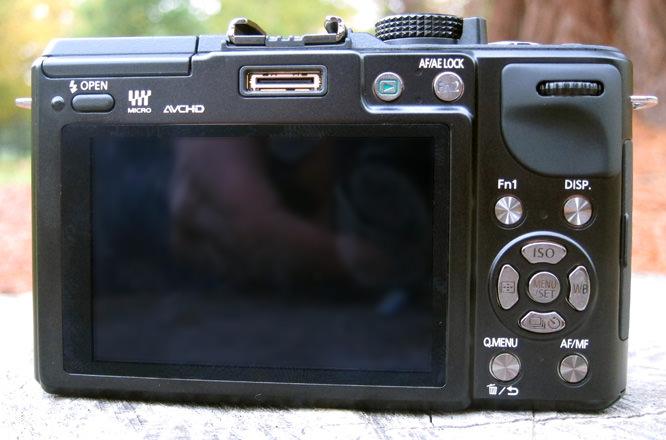 Panasonic Lumix GX1 Back