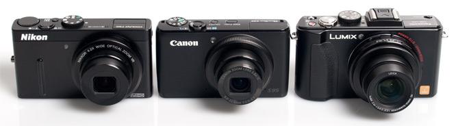 Nikon, Canon, Panasonic Front On