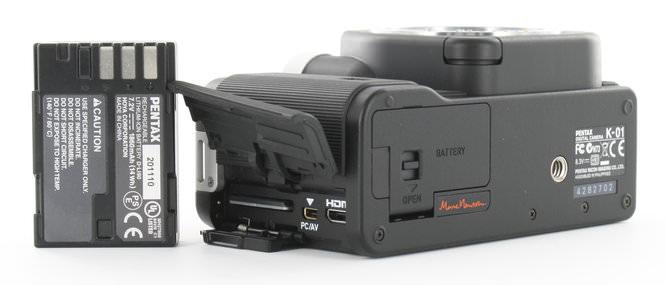 Pentax K-01 Bottom Battery