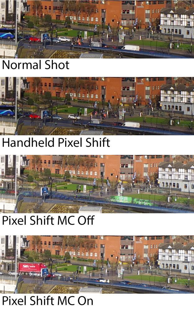Pixel Shift Examples