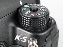 Pentax K-5 mode dial
