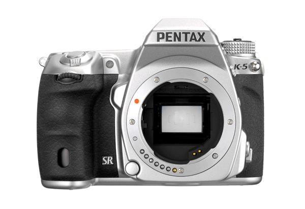 Pentax K-5 Silver front