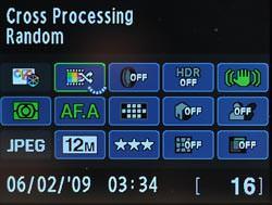 Pentax Kx DSLR menu screen