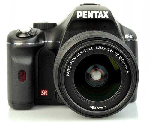 Pentax K-x DSLR front view