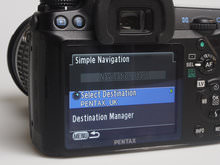 Pentax O-GPS1 Selecting destination