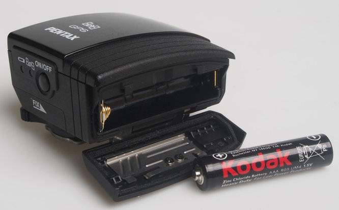 Pentax O-GPS1 battery chamber