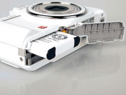 Pentax Optio I-10 battery compartment
