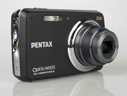 Pentax Optio M900 front lens extended