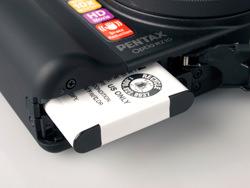 Pentax Optio RZ10 battery compartment