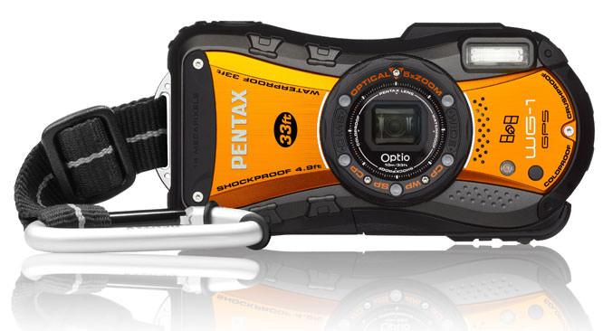 Pentax Optio WG1-GPS Shiny Orange Digital Compact Camera