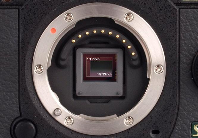 Pentax Q10 Sensor Size Comparison Closeup