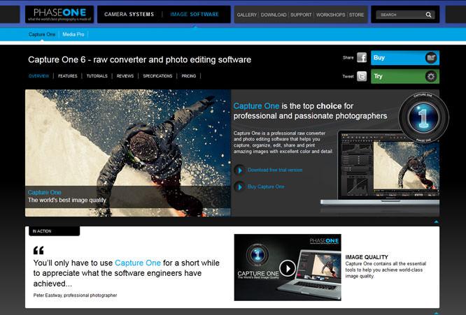 Phase One Website Screenshot