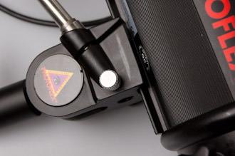 TritonFlash bracket is Photoflex all metal slide version