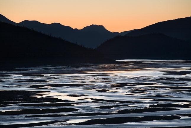 Lake Mountain silhouette