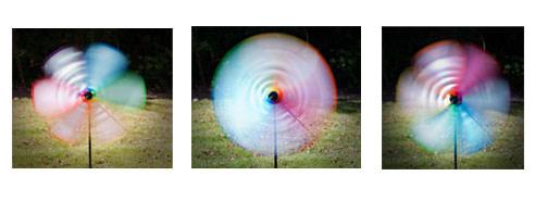 Photographing garden windmills