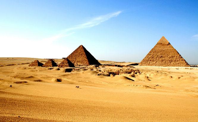 Pyramids off centre