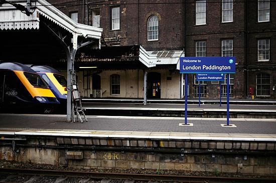 Platform at Paddington Station
