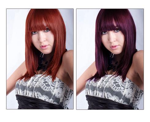 Hair colour changes