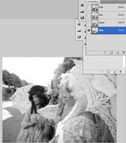 Channels Photoshop CS4 - BLUE