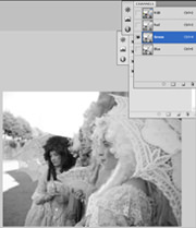 Channels Photoshop CS4 - GREEN
