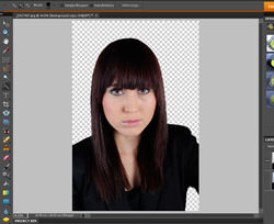 Background removed in Photoshop Elements