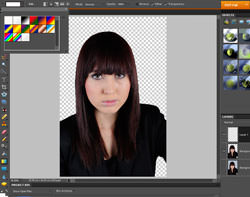 Adding colour to the background in Photoshop Elements