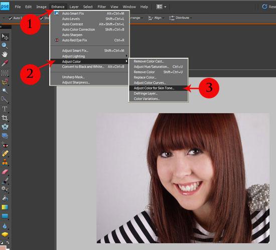 Enhance skin in Photoshop Elements