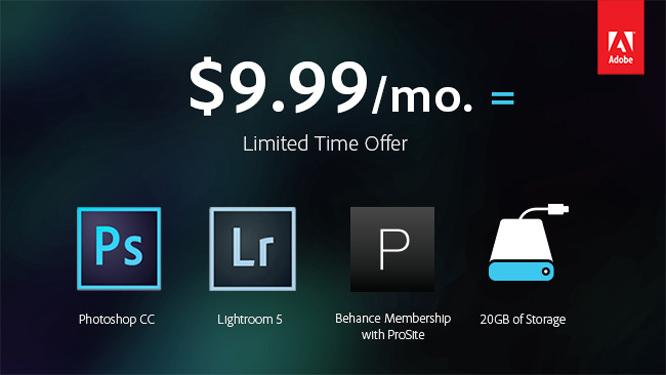 Adobe Photoshop offer
