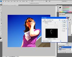Colour range in Photoshop