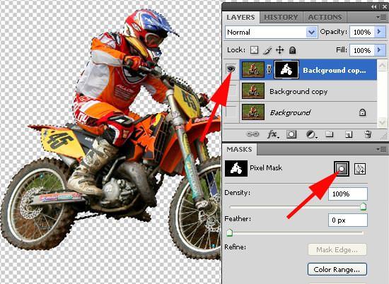 motocross - create a pixel mask