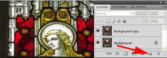zoom blur - create new layer
