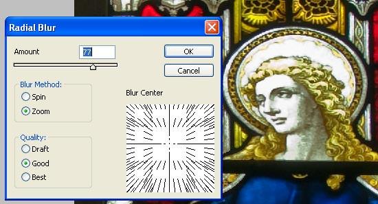 zoom blur - add radial blur