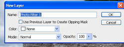 Adding a Photo Filter