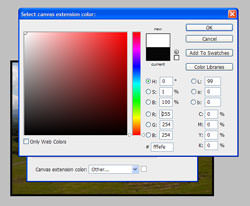 Select a colour for your frame