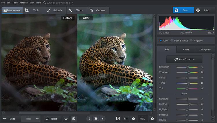 PhotoWorks Auto correct