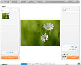 Pixum - Selecting print