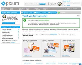Pixum order confirmation