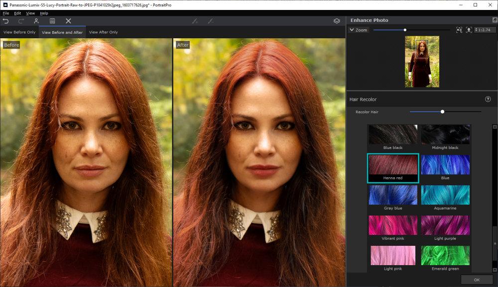 Portraitprov21 Hair Colour Changes
