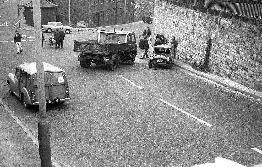 1.1Road traffic accident, Mill Street, Leek, circa 1968.